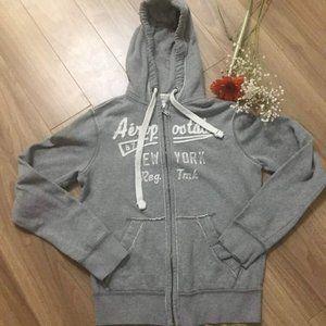 Aeropostale Grey zip up Hoodie size XS